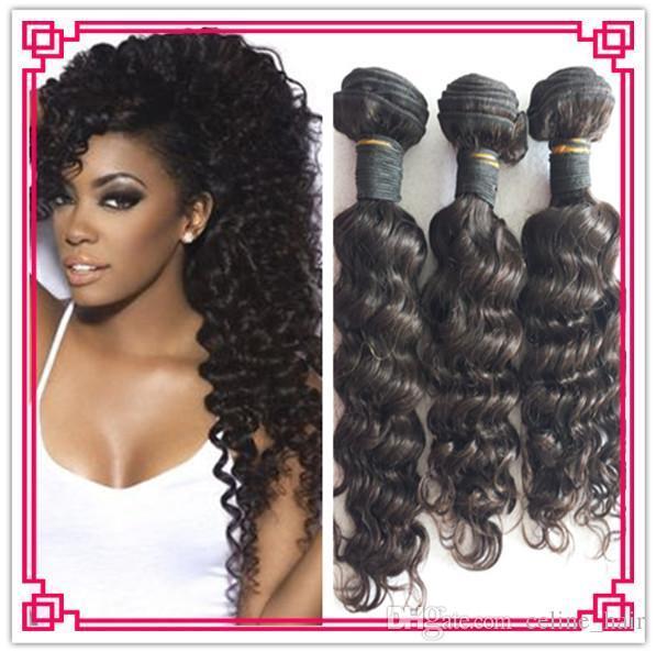 Peruvian Virgin Hair Deep Curly 10 28soft Bundle Hair Extension Best