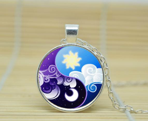 2018 wholesale my little pony necklace princess celestia and wholesale 1pcs my little pony necklace princess celestia and princess luna inspired pendant glass cabochon aloadofball Gallery