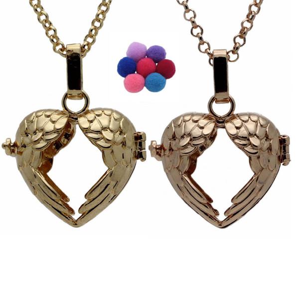 aile de femmes en acier inoxydable charmes pendentif collier chaîne argent