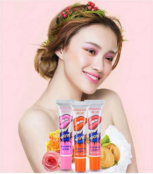 Lip Gloss Peel-off Lasts For 24h No Stain Marine Collagen Lipstick Balm Plant Romantic Bear 6 Colors Makeup Moisturizing Lip Mask