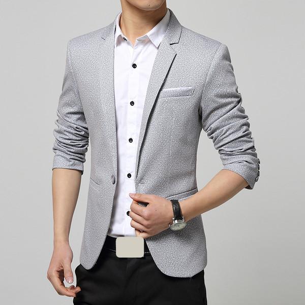 Atacado-2015 homens Casual Blazers Designer azul um botão estilo moda marca cor sólida Business Blazer ternos para homens