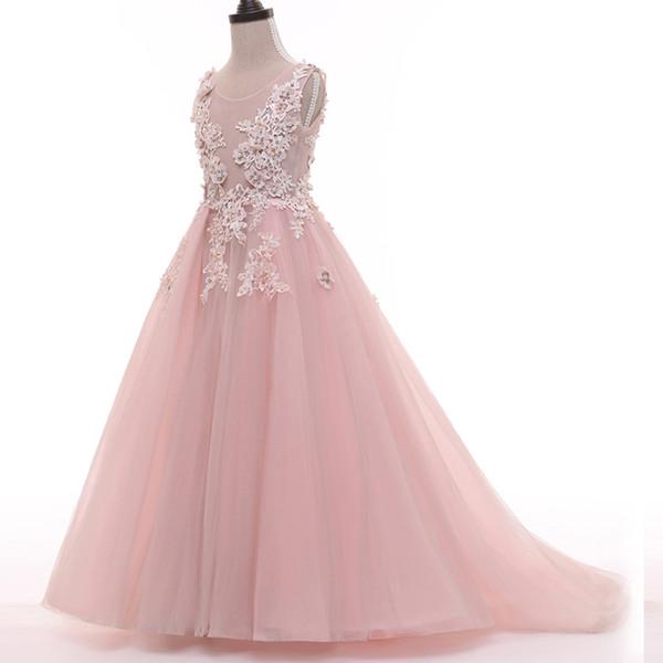 Compre Nova Bela Flor Menina Vestidos Para Festa De Casamento Vestido Daminha Alibaba China Crianças Vestido De Aniversário Pageant Menina Vestidos De