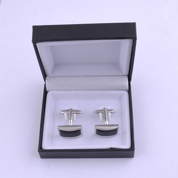 best selling Top Grade Black Black Velvet Plastic Cufflink Box Jewelry Boxes Best gift box for Cufflinks Hot Selling