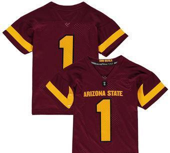 on sale ea035 00df4 2019 NCAA College Football Jerseys Youth Black Arizona State Sun Devils  Replica Football Custom Jersey Personalized College Factory Shirts Youth  From ...