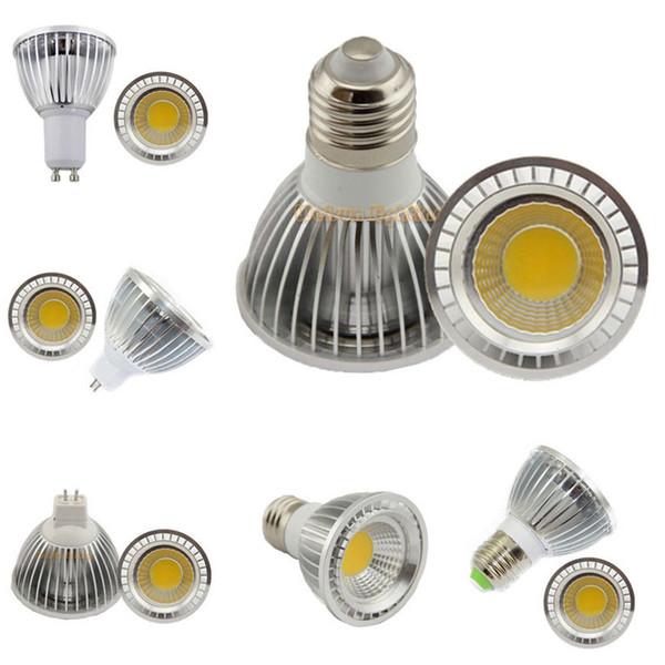 High Power 9W 12W 15W E27 E14 GU10 MR16 B22 PAR20 COB LED Bulb lamps Dimmable led Spotlight bulb light 110V 220V Warm/Cool white