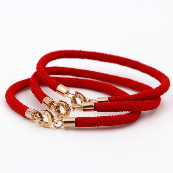 Alta qualità 316L acciaio inossidabile di titanio BV LOVE rotonda Chiusura Bracciale corda rossa per donne e uomini Gioielli di moda braccialetto di fascino di marca