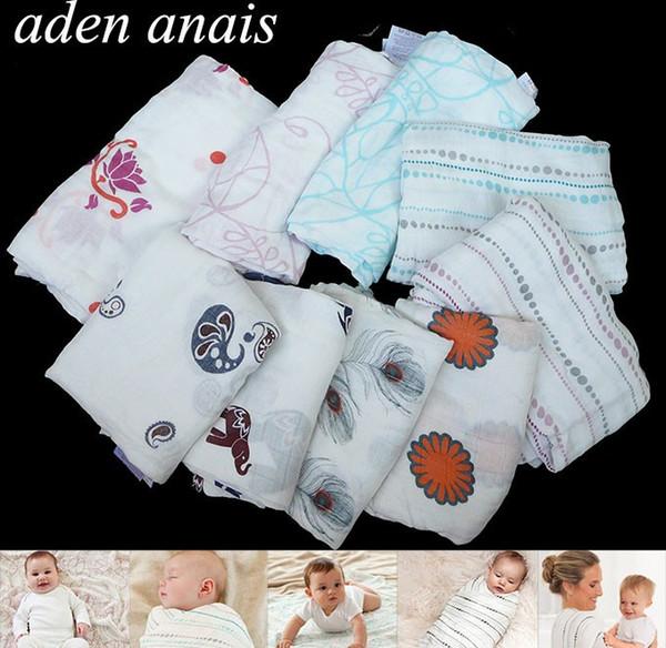 Vendita calda Aden Anais Bedding Trapunte per neonati Neonato forniture 100% cotone mussola Bambino che riceve coperte Cobertor Infantil Soft Baby Wrap