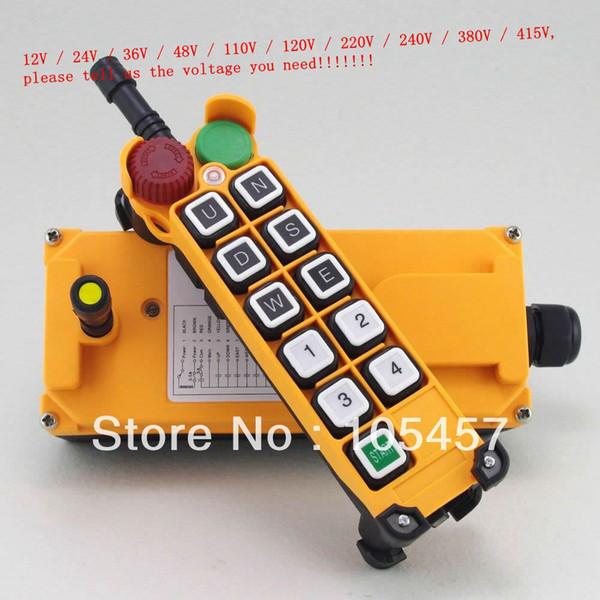 5 Motion 1 Speed Hoist Crane Truck Radio Sistema di controllo remoto con arresto di emergenza Indica il voltaggio necessario per ordinare una pista da $ 18no