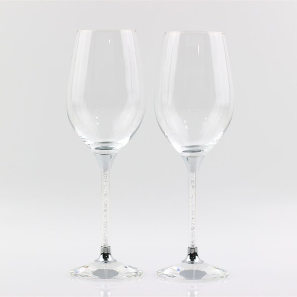 2017 hot sales crystal toasting wedding wine glasses set stemware wine goblet home and bar use drinking glass cup