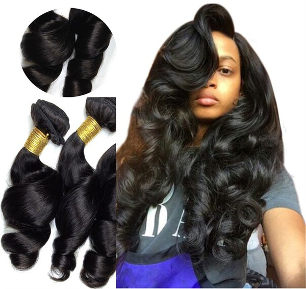 Loose Wave 100 Virgin Remy Human Hair Extensions Uk 6a Unprocessed