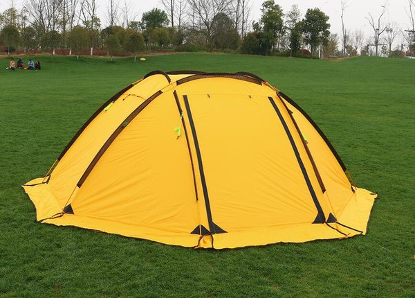 Wholesale- Hillman 3-4 person big space aluminum poles 210T waterproof ultralight outdoor camping tent high quality new tent