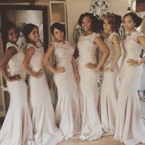 American Nice Fabric Mermaid Bridesmaid Dresses Saudi Arabic Satin Girl Wedding Bridesmaid Dresses New Design Custom Made Long Party Gowns