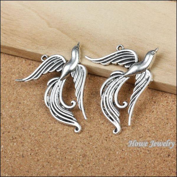 15 pcs Vintage Charms Phoenix Pendant Antique silver Fit Bracelets Necklace DIY Metal Jewelry Making