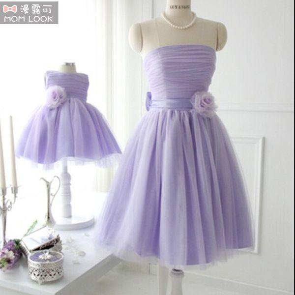 top popular Mother Daughter Clothes Dresses Wedding Princess Tutus Matching Mon and Girl Dress Flower girl dresses Party Wedding Dresses 2019