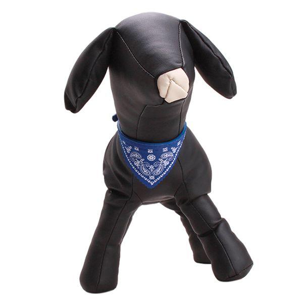 Wholesale-1pc/lot New Adjustable Dog Cat Pet Puppy Bandana Scarf Pet PU Collar Neckerchief Pet Supplies 3 Colors pc676043