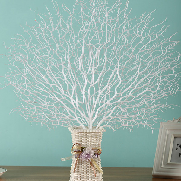Plastic flowers Artificial Tree Branch Peacock Coral Branch Plants The Wedding Home Decoration Adornment Photography Props Home Decor