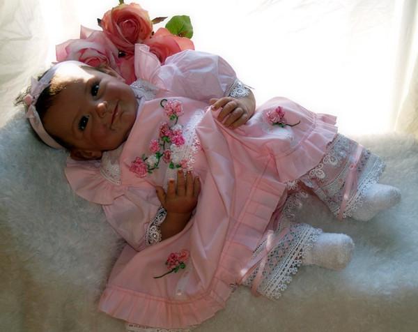 Reborn Baby Doll Neugeborene Bebten Lebend Brinquedos Bonecas Geschenke für Mädchen Geburtstag Weihnachtsgeschenk Reborn-Puppen realistisches weiches Zubehör
