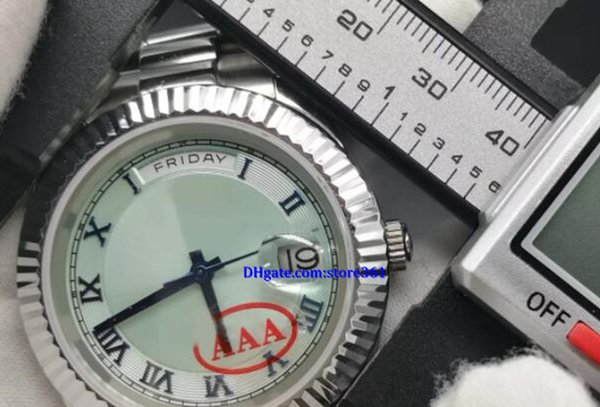 Luxury watch automatic DAY date Silver wristwatch 41mm sapphire glass aaa stainless steel will not fade rep watches