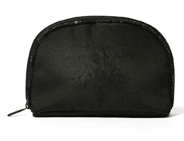 Fashion Black Sequin Logo Cosmetic Bag Women's Handbag Classic C Pattern Cosmetics Organizer Storage Box VIP Gift