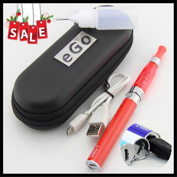 2017 micro USB passthrough Electronic Cigarette vape kits ego t new uGo T ego battery and ce5 ce4 atomizer cheap e cigars ego ce4 vaporizer