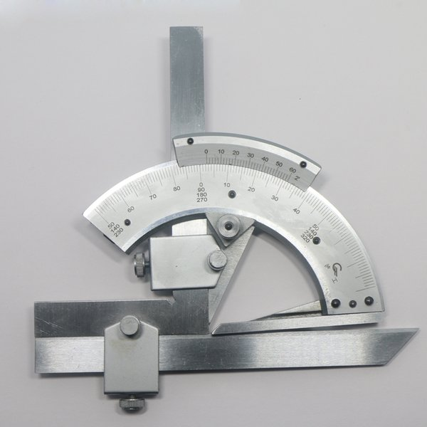 top popular Freeshipping 0-320 Universal Stainless Steel Bevel Protractor Angular Dial ruler goniometer 2021