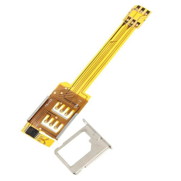 Wholesale-New Item Dual Sim Card Adapter Slot iPhone 5/4S/4 Micro SIM Card Adapter Support GSM and 3G-USIM Card