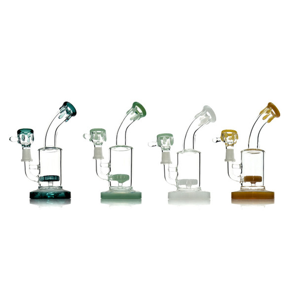 """Small Bongs Glass Water Bong Smoking Pipe With Colorful Lips Glass Pipes For Smoking Oil Rig 8"""""""