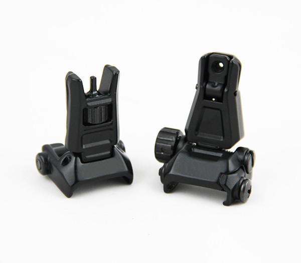 Tactical GEN3 Metal Front Rear Schienale pieghevole per PTS con marcatura nera