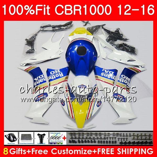 Injection For HONDA CBR1000 RR CBR 1000 RR 12 16 Rothmans Blue 88NO66 CBR 1000RR 12 13 14 15 16 CBR1000RR 2012 2013 2014 2015 2016 Fairings