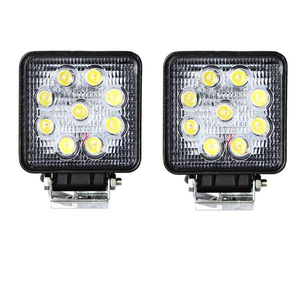2pcs 4'' inch 27W LED Work Lights For Truck 4X4 Accessories Driving Light Spotlight 12V 24V Car SUV ATV Led Tractor Work Light