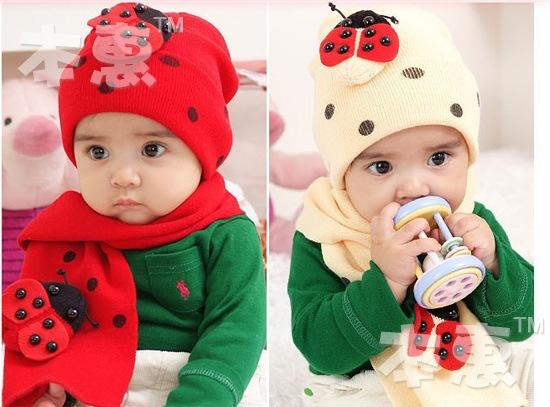 kids hat , baby cap+ scarf two-piece suit / Children Scarves Muffler+Baby headgear hats, 10pcs/lot, dandys