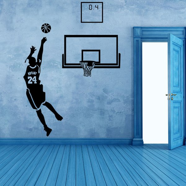 Basketball Dunk Sports Vinyl Decal Art Wall Sticker DIY Home Room Decor For Kids Room Child Bedroom Classroom Boys Palyroom