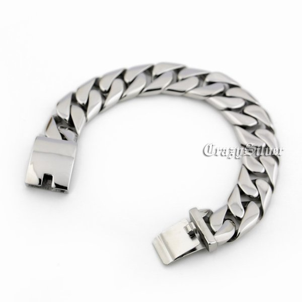 9 Lengths 316L Stainless Steel Mens Biker Rocker Bracelet 5T012