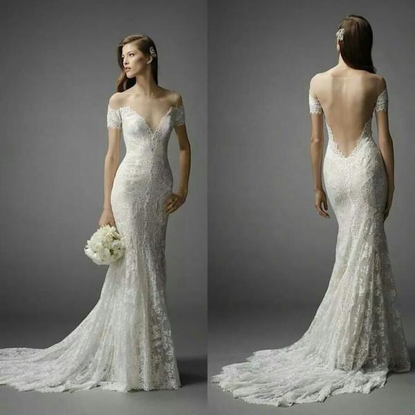 голые свадебные платья