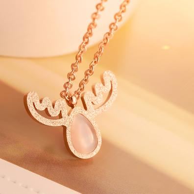 custom pendant New Fashion Woman stone Jewelry Silver Chain Clear/Pink Opal Apples Necklace Pendants Crystal Faux Diamant Lovely Necklaces
