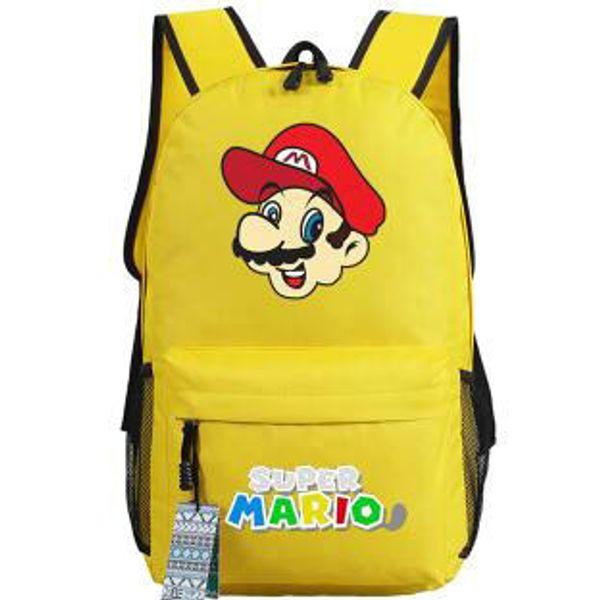 Eat mushroom backpack Super mario day pack Cool worker school bag Game packsack Quality rucksack Sport schoolbag Outdoor daypack
