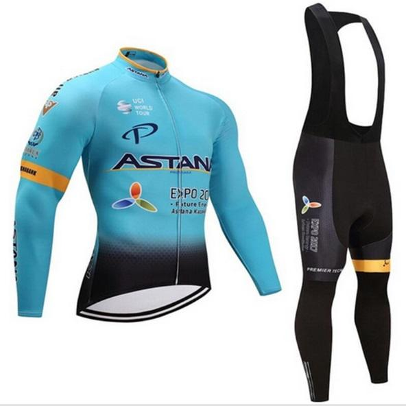 MEN'S outdoor sports suit cycling jersey long sleeve upper outer garment and long trousers men's sports suit