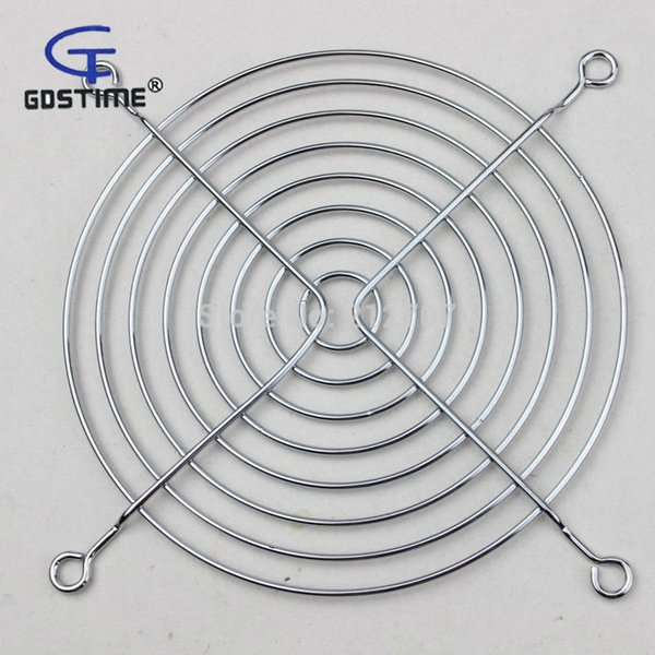 Wholesale- 2PCS Gdstime 12CM Metal Steel Cover Protective Net Filter Guard Fan Grill 120mm x 120mm