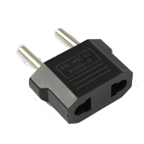 top popular US EU to EU AU AC Power Plug Converter Adapter Adaptor USA to European Black Plastic Travel Converter 2020