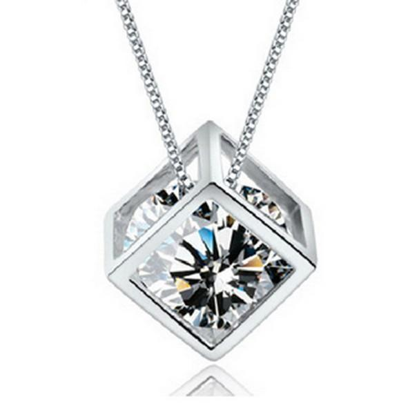 Crystal Magic Cube Pendant Chokers Necklaces Charms Jewelry for Weddings Sale Women Girls Cheap Match Prom Dresses WITHOUT CHAIN Necklace