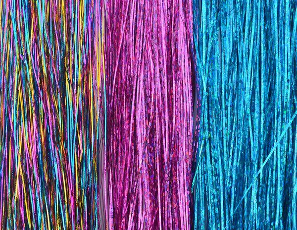 "Metallic Glitter Tinsel Laser Hair Extensions 40""1000 strands OF SPARKLE SILK HAIR TINSEL (20 PACK)"