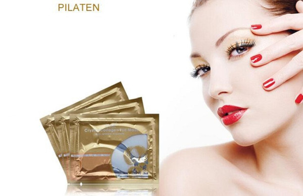 top popular Pilaten Crystal Collagen Eye hot sale Mask moisture For Eyes Care DHL Free 2021