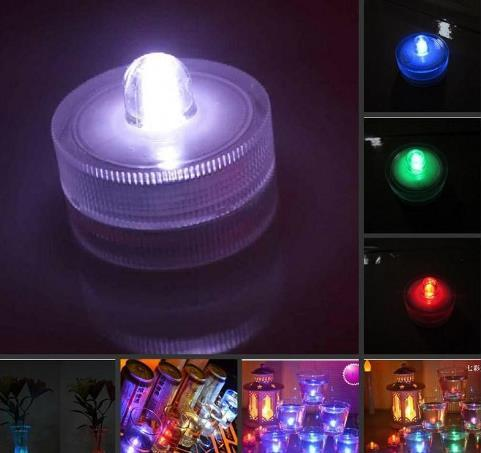 top popular Submersible candle Underwater Flameless LED Tealights Waterproof electronic candles lights new Wedding Birthday Party Xmas Decorative lights 2020