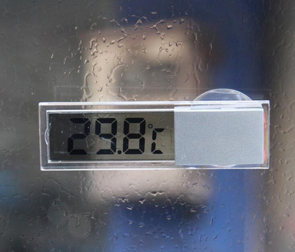 200pcs/lot BY DHL/Fedex LCD Digital Temperature Display Car meter Suction Auto Home Household Mirror Thermometer Wholesale