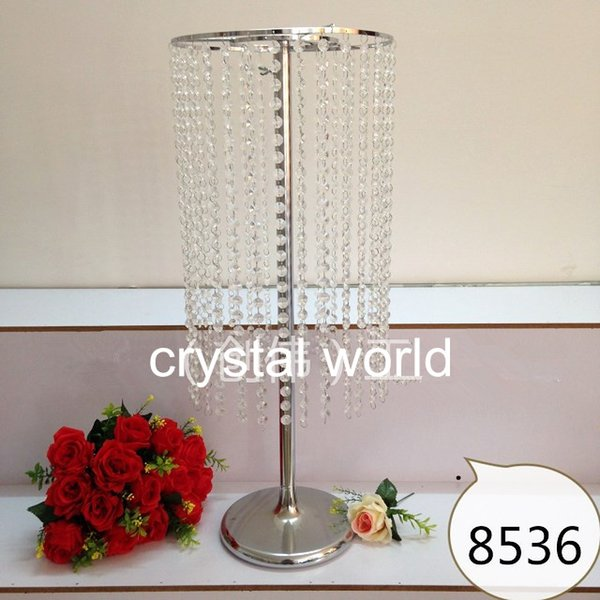 sliver crystal and mental flower stand centerpieces for wedding decoration 1234