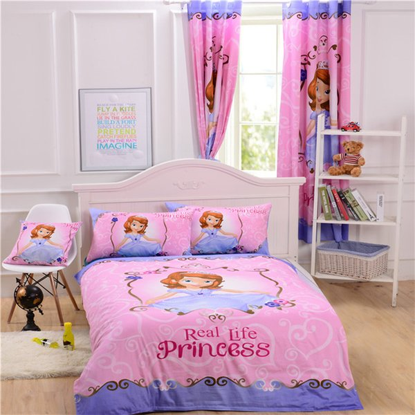 Sofia The First Bedding Princess Bedding Cotton Bedroom Decoration Curtain Cushion Cover Duvet Cover Sheet Set One Stop Shopping Fieldcrest Bedding
