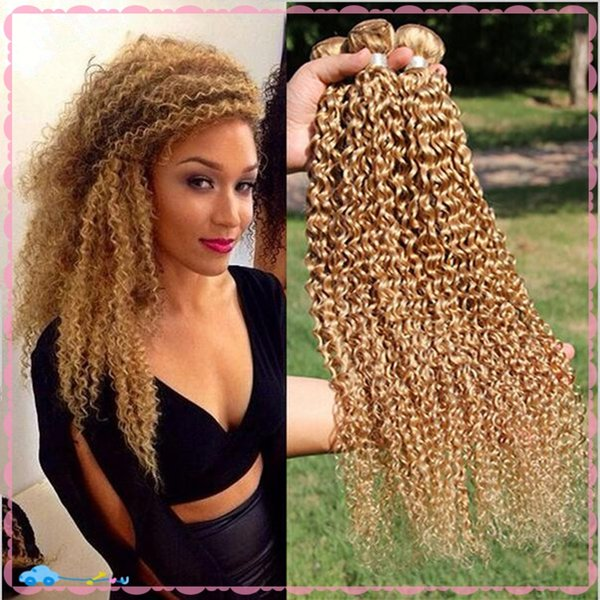 9a Cheap Pure 27 Honey Blonde Brazilian Hair Blonde Curly Hair