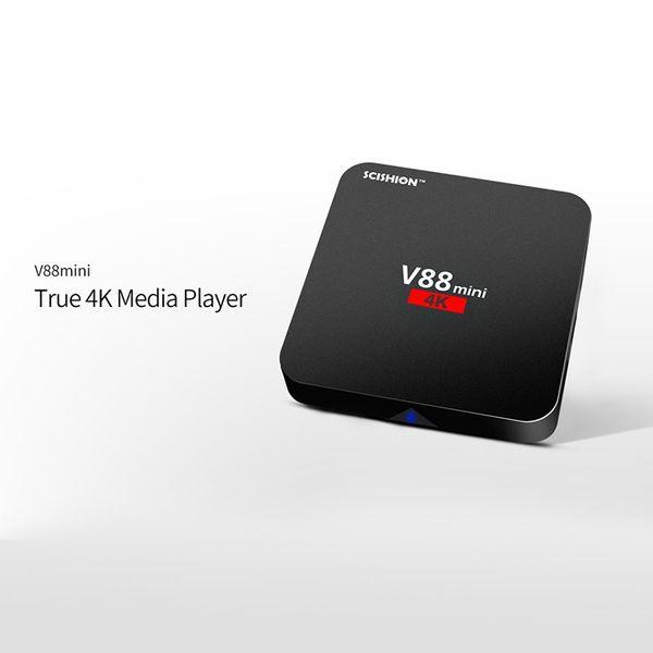 2017 Android 7.1 V88 tv boxe Cheapest RK3229 Quad-Core 1GB 8GB Smart Tv Box WiFi 3D HDMI TV Cheap Set-top Box Media Player
