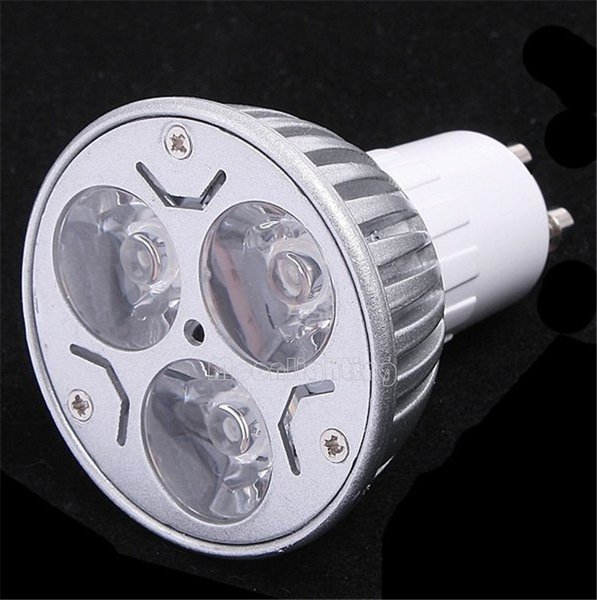10pcs/lot GU10 E27 E14 B22 3X3W Dimmable LED Spotlights Pure/Warm White Spotlight Spot Lights Bulb Lamp 220V Energy Saving Free Shipping
