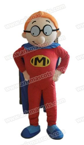 Fast Delivery lovely boy mascot costume Cartoon Mascot Costumes for Kids Birthday Party Deguisement Mascotte Custom Mascots at Arismascots